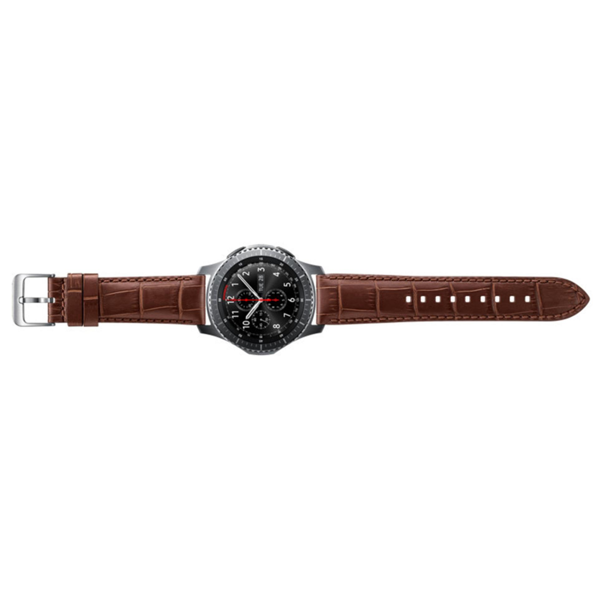 ... Seeme Tempered Glass Screen. Source · Samsung Alligator Strap for Gear S3 - Brown .