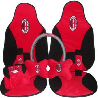 Sandaran Jok Sarung Jok Mobil AC Milan / Car Set Jok 5in1 AC Milan
