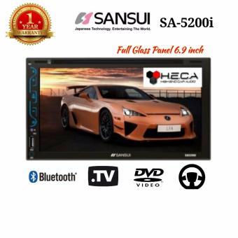 Sansui SA-5200i Head Unit Double Din 2din SA5200i Tape TV Audio Mobil