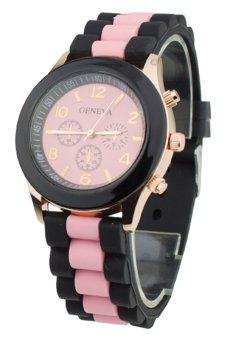 Sanwood® Women's Silicone Strap Quartz Sports Wrist Watch Pink