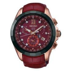 Seiko Astron GPS Dual Time Limited Edition with Diamonds SBXB080 - Jam Tangan Pria - Merah