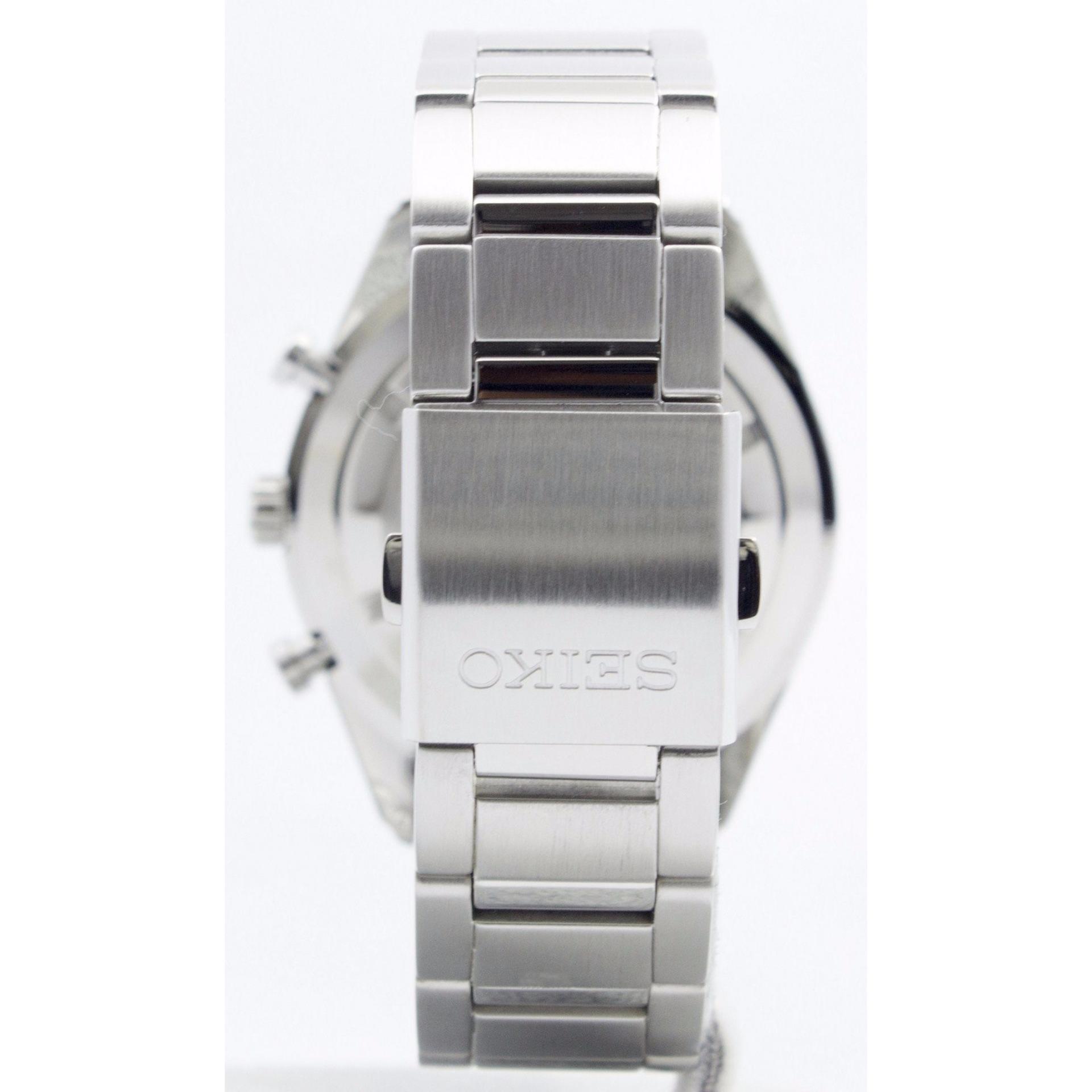 Seiko Chronograph Jam Tangan Strap Stainless Steel Silver Sks515p1 Sks521p1 Pria Stell Ssb175p1 Black