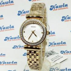 Seiko Ladies SRZ468P1 Quartz Gold Coating Bracelet Jam Wanita .