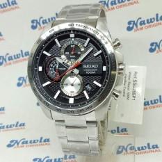 Seiko Quartz SSB255P1 Chronograph Black Dial - Jam Tangan Pria SSB255 PRM