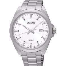 Seiko Quartz SUR205P1 Jam Tangan Pria - Silver