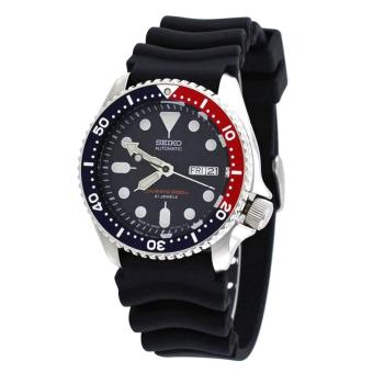 Seiko Watch Automatic Diver s Black Stainless-Steel Case Rubber Strap Mens  JAPAN NWT + Warranty 2fc1232afd