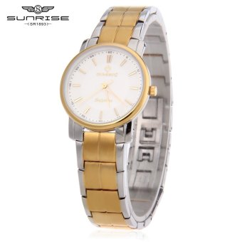 SH SUNRISE DL747SWA Women Quartz Watch Sapphire Mirror Water Resistance Hidden Buckle Wristwatch Silver - intl