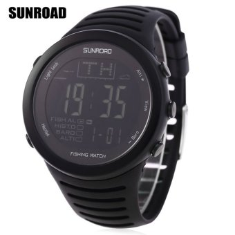SH SUNROAD FR720 Fishing Digital Barometer Watch 5ATM AltimeterThermometer Weather Forecast Countdown Timer Stopwatch Black - intl