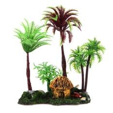 Simulation Tree Barrel Plastic Resin Artificial Plant Aquariums Ornaments - intl
