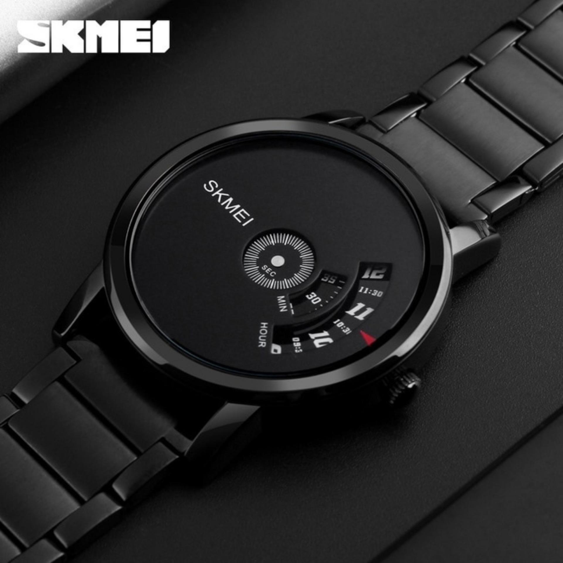 Skmei Cosmo Jam Tangan Pria Hitam Tali Kulit 9083 Black Edition Wanita Biru 1081 Blue 1260 Quartz Sportwatch
