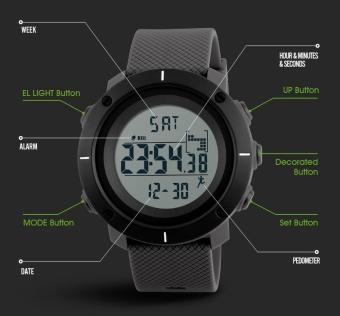 SKMEI Brand Smart Wrist Band Pedometer Calories Sport Watches For Men Running Military Digital Smartwatch 1215 - intl - 2