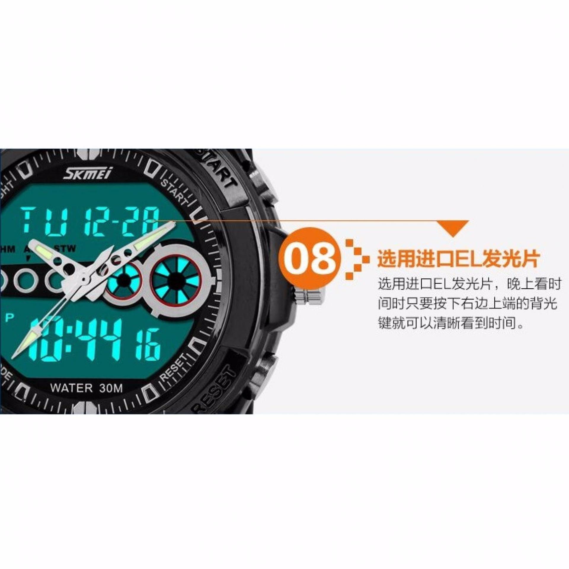 Skmei Casio Man Sport Led Watch Water Resistant 30m Ad1171 Rose Gold Jam Tangan Pria Casual Men 1208 Ad0942 Keren Hitam