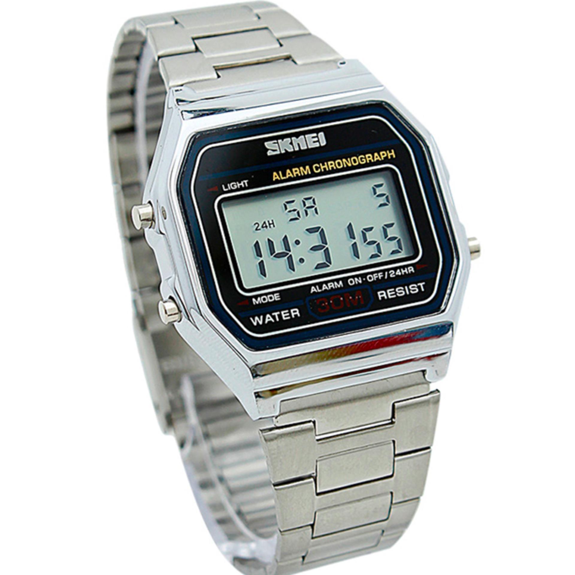SKMEI Casio Man Sport LED Watch Water Resistant 30m DG1123 Waterproof Analog DIgital GARANSI RESMI
