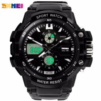 SKMEI Grenade Hitam - Jam Tangan Pria - Strap Karet - 0990 Sport Black + Free