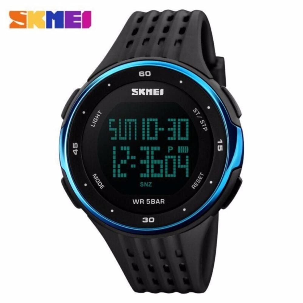 ... SKMEI Man Sport LED Watch Water Resistant Anti Air WR 50m DG1219 Jam Tangan Pria Tali