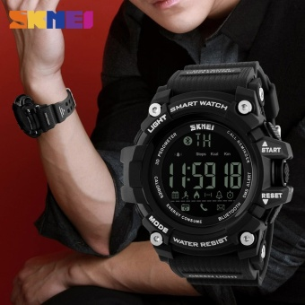 SKMEI Men Smartwatch Pedometer Calories Chronograph Fashion Sport Smart Watches Chronograph Waterproof Digital Wristwatches Mens - intl