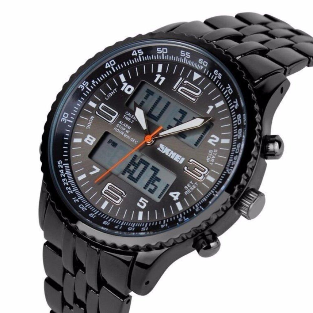 SKMEI Men Sport LED AD1032 Anti Air Watch Water Resistant WR 50m Jam Tangan Pria Casual ...