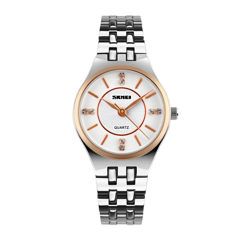 SKMEI merek jam tangan 1133 Wanita Roman nomor Fashion kasual bisnis otomatis kulit kalender tahan air ...