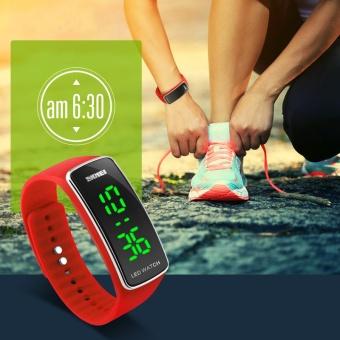 SKMEI merek Watch Fashion gelang waterproof olahraga watch elektronik Korea dipimpin gelang watch mahasiswa sederhana tabel