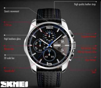 SKMEI Racing Chronograph Anti Air Waterproof Man Watch Pria - Biru