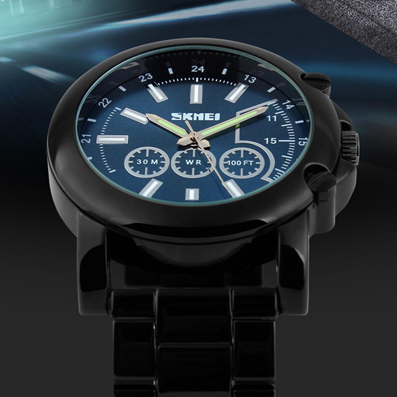 ... Air Water Resistant WR 30m AD1171 . Source · Home; Perhiasan; Jam tangan. SKMEI Racing Design Casual Watch Blue Dial Black Steel