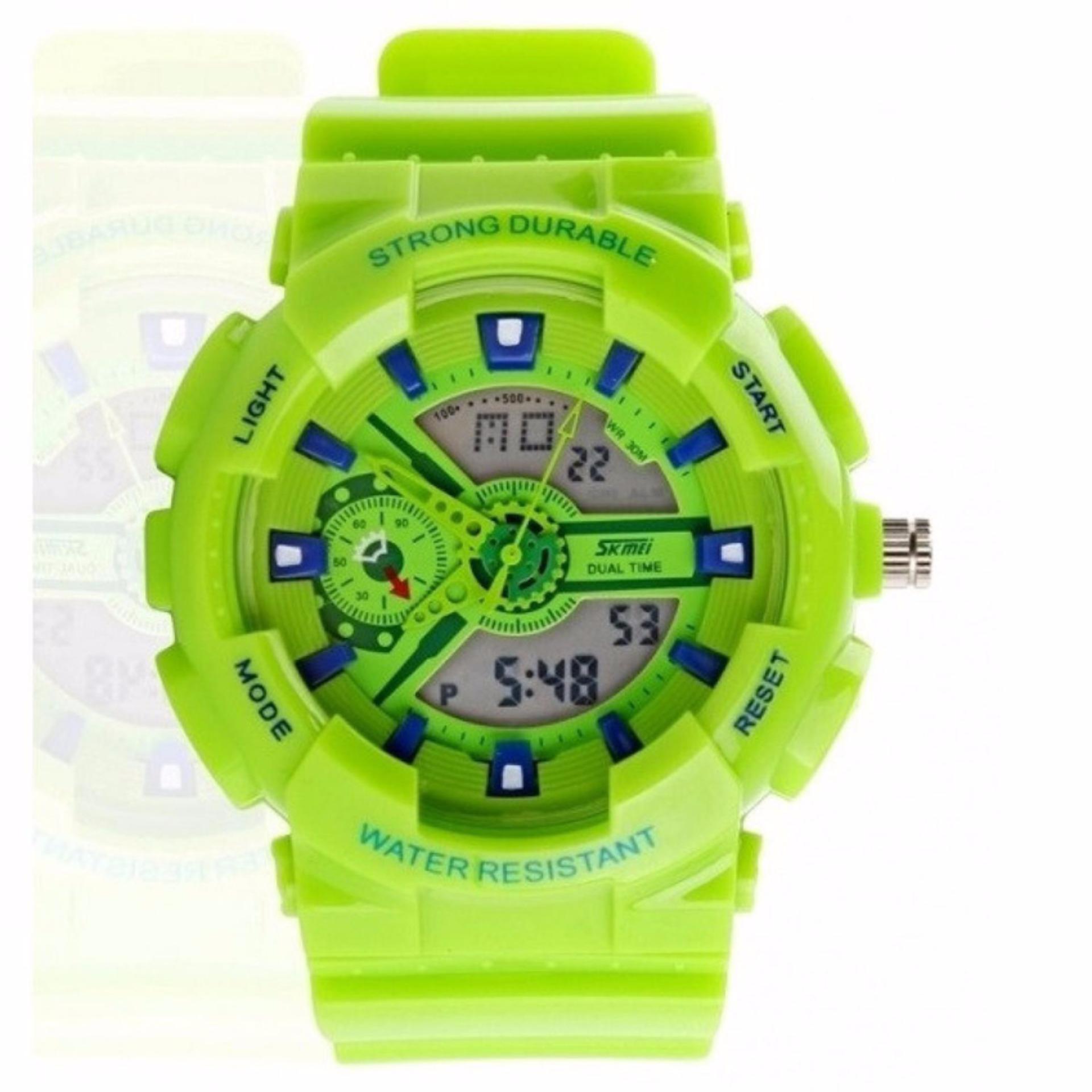 SKMEI S-Shock Sport Men LED Anti Air Water Resistant WR 50m AD0929 Jam Tangan Pria Tali Strap Karet Day Date Digital Alarm Wristwatch Wrist Watch Fashion ...