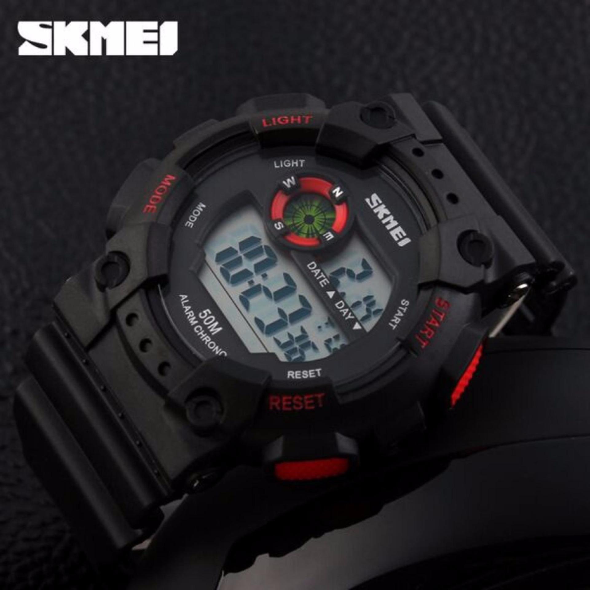... SKMEI Sport Men LED Watch Anti Air Water Resistant WR 50m DG1101 Jam Tangan Pria Tali ...