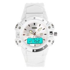 SKMEI Tali Jam Karet Tahan Air Unisex Sport Wrist Watch -Putih 0821