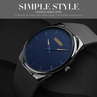 Perbandingan harga SKMEI Watch 1601S pria kuarsa jam tangan cahaya tipis Alloy hitam Plating kasus Waterproof