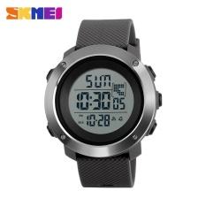 SKMEI1268 Men Sports Time Double Digital Waterproof LED Display Watch Gray Large - intl