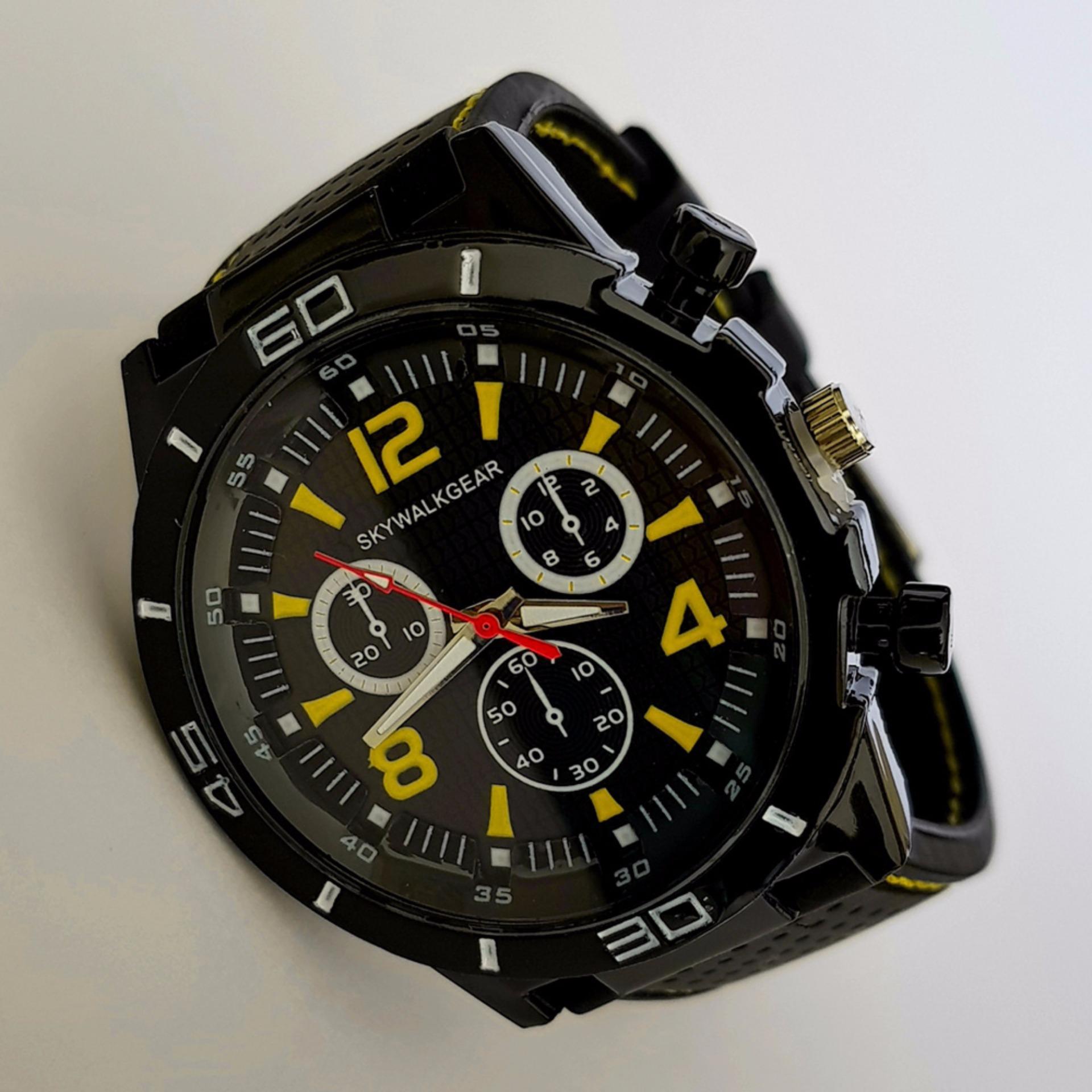 Swiss Navy Jam Tangan Pria Hitam Orange Strap Kulit S611 Daftar Rosegold Leather Sn 8647 Skywalkgear Hugo 5001 Kuning