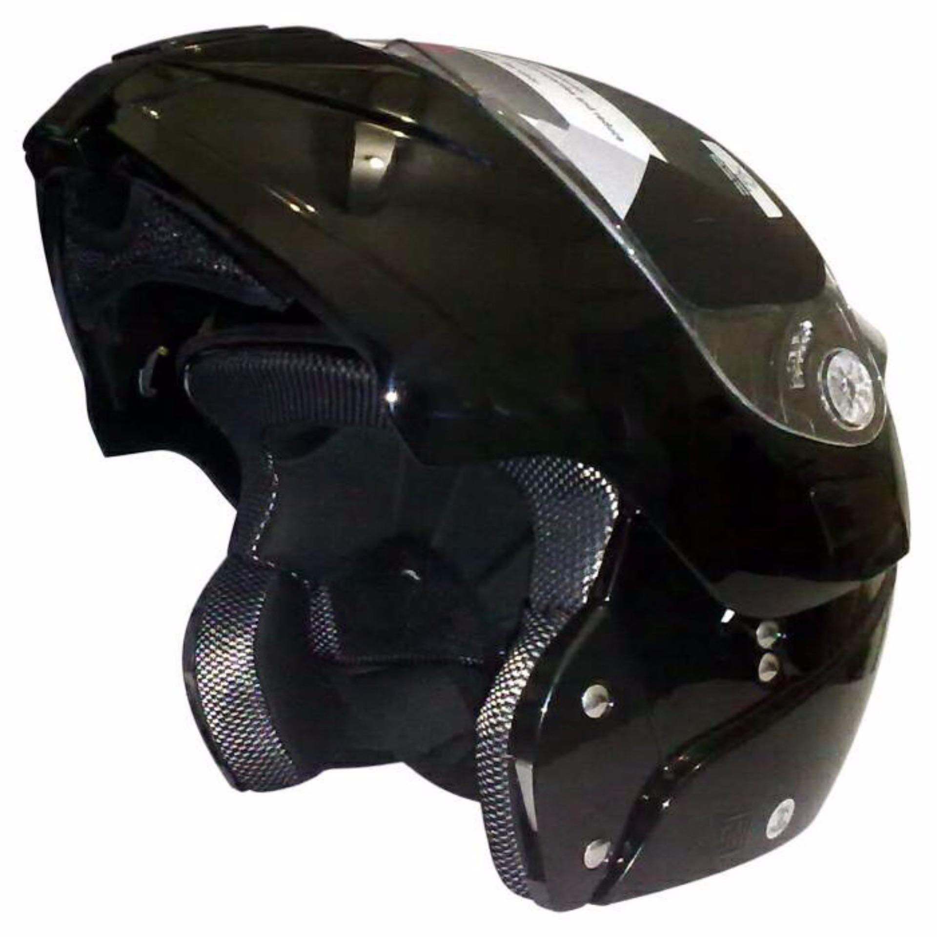 Snail Helm Half Face Retro 622 Double Visor Mika Panjang Hitam 310 White With Revo Green Modular Single Ff831 Putih
