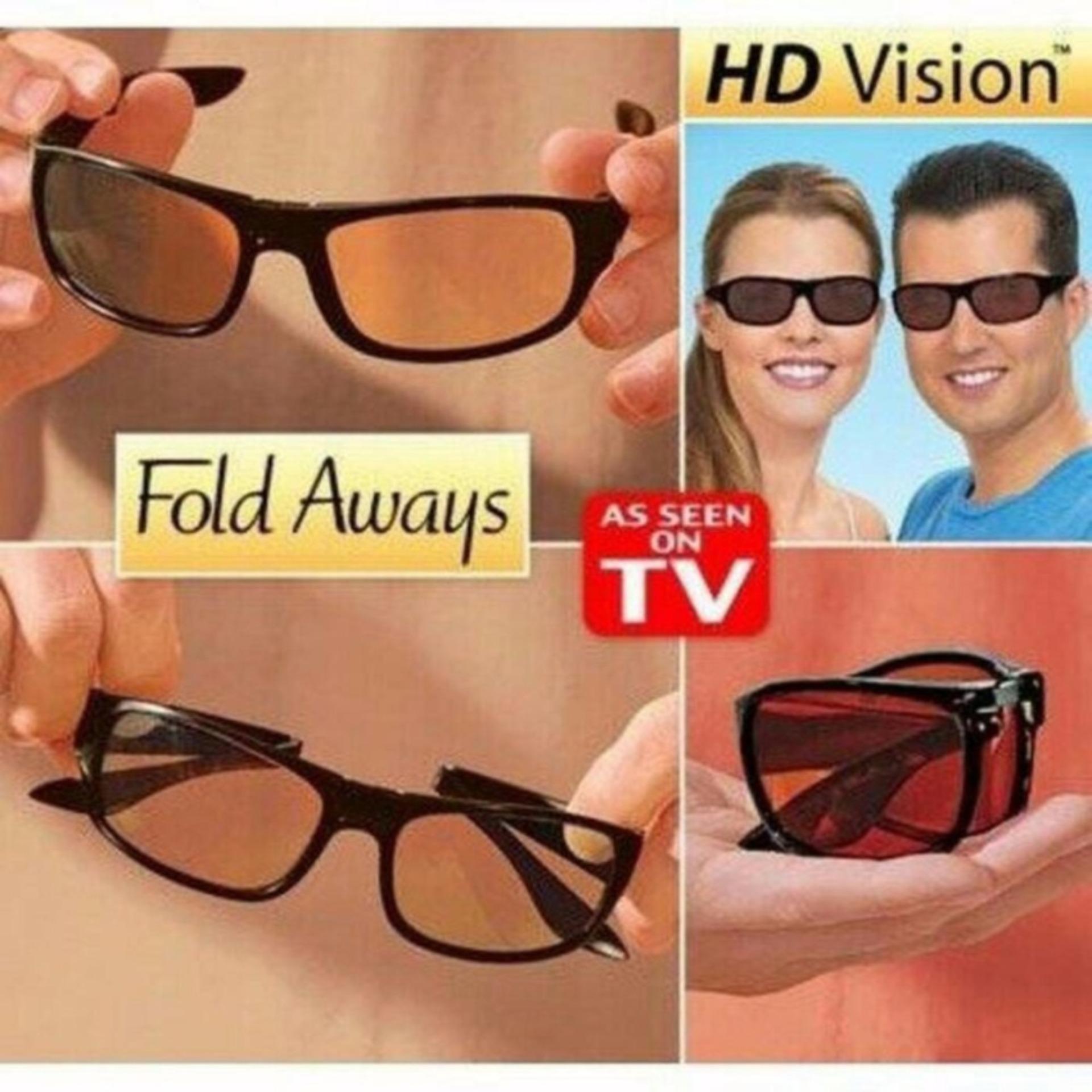 Kacamata Anti Silau Lipat Hd Vision Fold Always Free Sarung Cek Malam Kuning Night View Glasses Sj0038 Sunglasses Aways