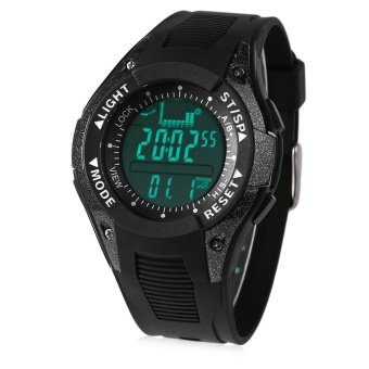 SUNROAD FX702A Multifunctional Digital Sports Watch Altimeter Fishing Barometer Wristwatch 30M Water Resistance - intl