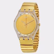 Swatch GE244A/B - Purity - Jam Tangan Wanita - Bahan Tali Stainless Steel -  emas