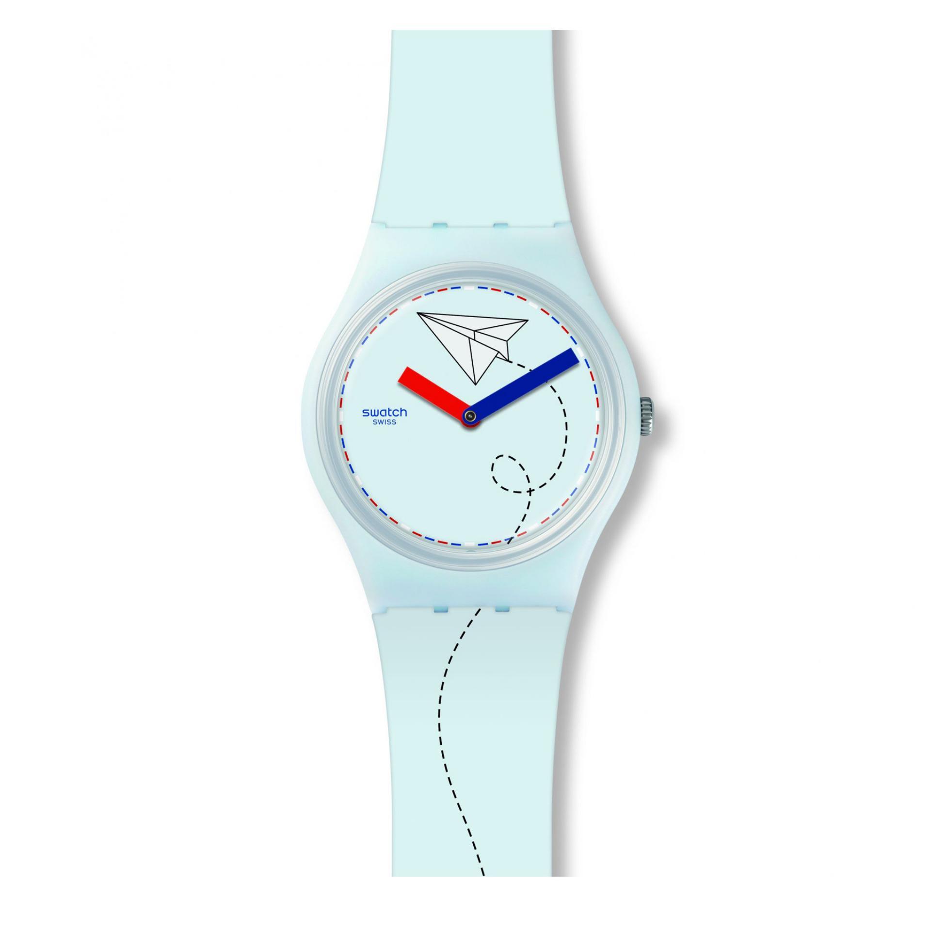 Swatch - Jam Tangan Pria - Light Blue- Rubber Light Blue -