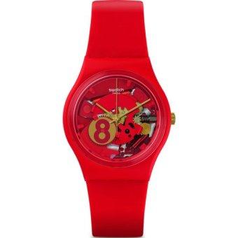 Swatch - Jam Tangan Pria - Merah-Merah - Rubber Merah - GR166