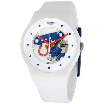 Swatch Jam Tangan Pria-Suow129 Horseshoe – Putih