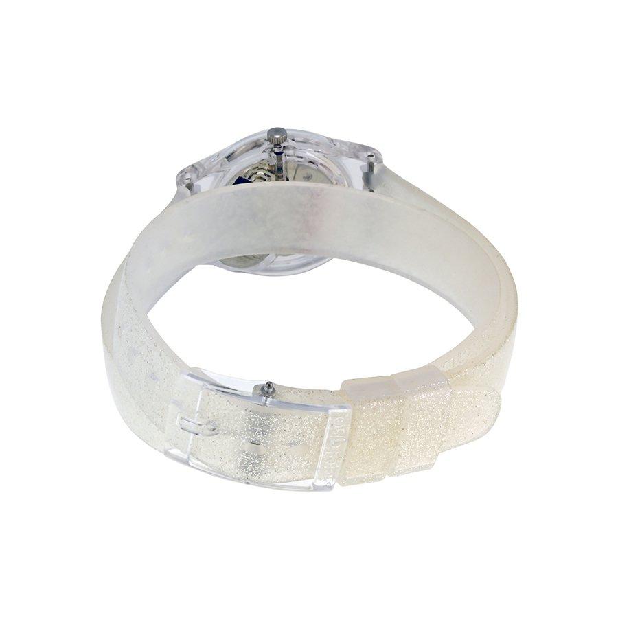 Swatch Jam Tangan Wanita Silver Resin Knit Grey Milanese Sfm118m New Gentleman Suon708 Pria Original Lk343 Glistar Putih Transparan