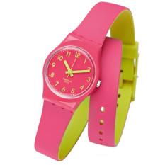 Swatch - Jam Tangan Wanita - Merah-Merah - Rubber Merah - LP131
