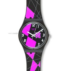 Swatch Jam Tangan Wanita - Resin - Coklat - SWATCH GZ266