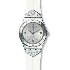 Swatch Women's YLS450 - Jam Tangan Wanita - Silver - Silicone