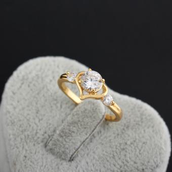 Sweet Cinta Hati Wanita Perhiasan Cincin Tembaga 18 Karat Emas #8 Fil USA - 5