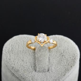 Sweet Cinta Hati Wanita Perhiasan Cincin Tembaga 18 Karat Emas #8 Fil USA - 3
