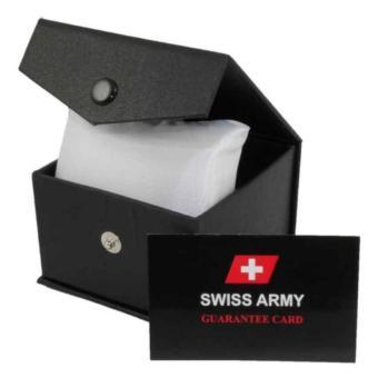 Detail Gambar Swiss Army Dual Time Jam Tangan Pria - Leather Strap - Dark Bown SA
