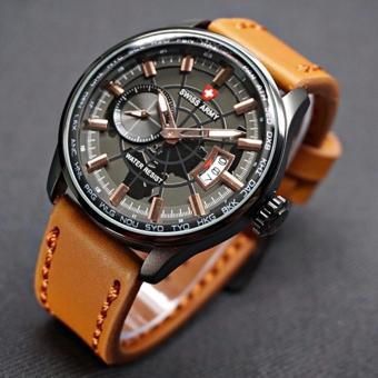Swiss Army - Jam Tangan Casual Pria - Leather Strap - SAM BR79