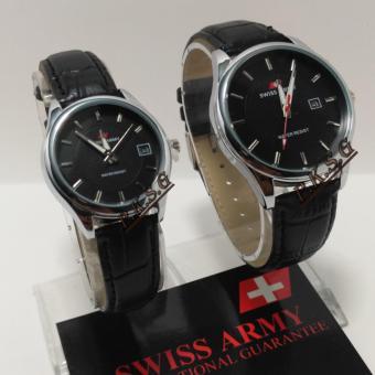 Swiss Army - Jam Tangan Couple - Original - Strap Kulit - SA-502
