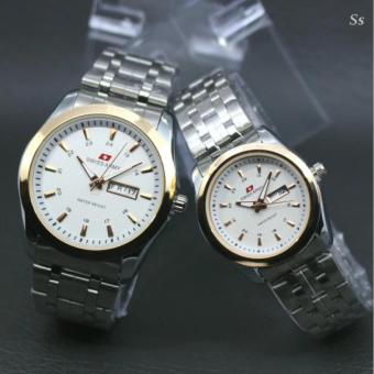 Swiss Army - Jam Tangan Couple - Stainless Stell - Date And Aktif-SA-