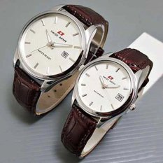 Swiss Army Jam Tangan Couple - Tali Kulit - Coklat - SA 0142 BS