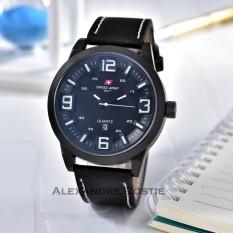 Swiss Army - Jam Tangan Pria - Body Black - Black/White Dial - Black